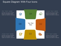 Square Diagram With Four Icons Powerpoint Template