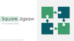 Square Jigsaw Financial Objectives Ppt PowerPoint Presentation Complete Deck With Slides