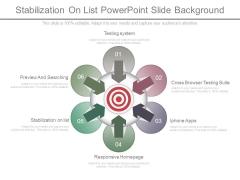 Stabilization On List Powerpoint Slide Background