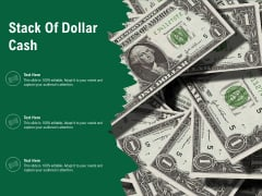 Stack Of Dollar Cash Ppt PowerPoint Presentation File Background PDF