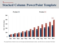Stacked Column Chart Free PowerPoint Template