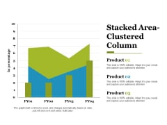 stacked area clustered column ppt powerpoint presentation styles files
