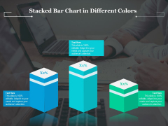 Stacked Bar Chart In Different Colors Ppt PowerPoint Presentation Gallery Maker PDF