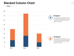 Stacked Column Chart Marketing Ppt PowerPoint Presentation Slide