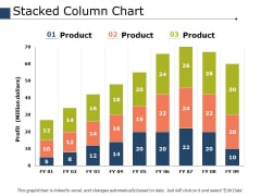Stacked Column Chart Ppt PowerPoint Presentation Slides Files
