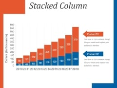 Stacked Column Ppt PowerPoint Presentation Guidelines