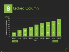 Stacked Column Ppt PowerPoint Presentation Slides Introduction