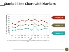 Stacked Line Chart With Markers Ppt PowerPoint Presentation Gallery Icon