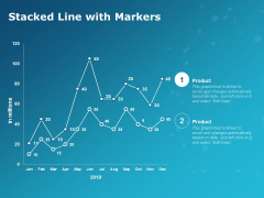 Stacked Line With Markers Ppt PowerPoint Presentation Show Design Ideas