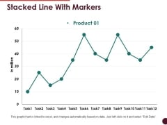 Stacked Line With Markers Ppt PowerPoint Presentation Show Templates