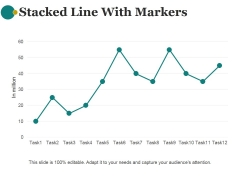 Stacked Line With Markers Template 2 Ppt PowerPoint Presentation Images