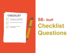 Staff Checklist Questions Ppt PowerPoint Presentation Ideas Graphics Download