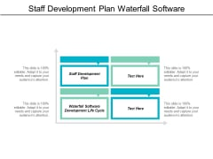 Staff Development Plan Waterfall Software Development Life Cycle Ppt PowerPoint Presentation Show Designs Download