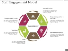 Staff Engagement Model Ppt PowerPoint Presentation Professional Shapes