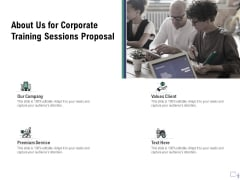 Staff Engagement Training And Development About Us For Corporate Training Sessions Proposal Structure PDF