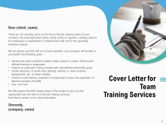 Staff Engagement Training And Development Cover Letter For Team Training Services Professional PDF