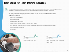 Staff Engagement Training And Development Next Steps For Team Training Services Download PDF