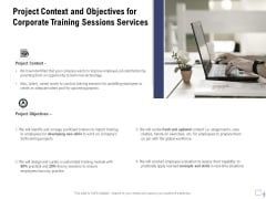 Staff Engagement Training And Development Proposal Project Context And Objectives For Corporate Training Sessions Services Pictures PDF