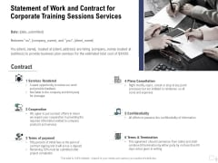 Staff Engagement Training And Development Proposal Statement Of Work And Contract For Corporate Training Sessions Services Information PDF