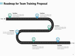 Staff Engagement Training And Development Roadmap For Team Training Proposal Mockup PDF