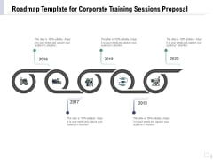 Staff Engagement Training And Development Roadmap Template For Corporate Training Sessions Proposal Pictures PDF