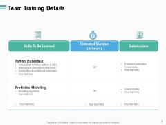 Staff Engagement Training And Development Team Training Details Portrait PDF