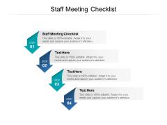 Staff Meeting Checklist Ppt PowerPoint Presentation Slides Aids Cpb