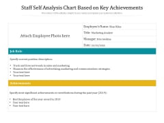 Staff Self Analysis Chart Based On Key Achievements Ppt PowerPoint Presentation File Tips PDF