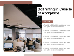 Staff Sitting In Cubicle At Workplace Ppt PowerPoint Presentation Portfolio Example Introduction PDF