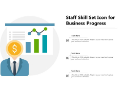 Staff Skill Set Icon For Business Progress Ppt PowerPoint Presentation File Introduction PDF