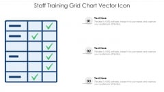Staff Training Grid Chart Vector Icon Ppt PowerPoint Presentation File Background PDF