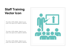Staff Training Vector Icon Ppt PowerPoint Presentation File Structure