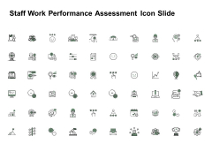 Staff Work Performance Assessment Icon Slide Social Ppt PowerPoint Presentation Styles Portrait