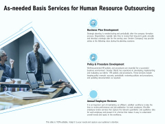 Staffing Offshoring Proposal As Needed Basis Services For Human Resource Outsourcing Guidelines PDF
