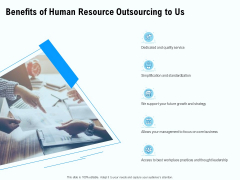 Staffing Offshoring Proposal Benefits Of Human Resource Outsourcing To Us Infographics PDF