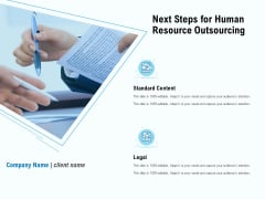 Staffing Offshoring Proposal Next Steps For Human Resource Outsourcing Formats PDF