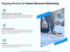 Staffing Offshoring Proposal Ongoing Services For Human Resource Outsourcing Guidelines PDF