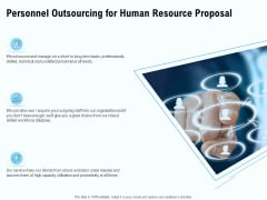 Staffing Offshoring Proposal Personnel Outsourcing For Human Resource Proposal Mockup PDF
