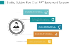 Staffing Solution Flow Chart Ppt Background Template