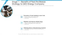 Stage 1 Benefits Of Feel The Breeze Strategy To GEO Energy Company Portrait PDF