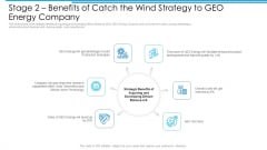 Stage 2 Benefits Of Catch The Wind Strategy To GEO Energy Company Clipart PDF