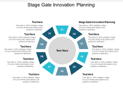 Stage Gate Innovation Planning Ppt PowerPoint Presentation Summary Aids Cpb