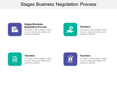 Stages Business Negotiation Process Ppt PowerPoint Presentation Background Image Cpb
