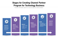 Stages For Creating Channel Partner Program For Technology Business Ppt PowerPoint Presentation Professional Shapes PDF
