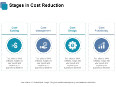 Stages In Cost Reduction Ppt PowerPoint Presentation Gallery Design Inspiration