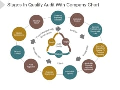 Stages In Quality Audit With Company Chart Ppt PowerPoint Presentation Files