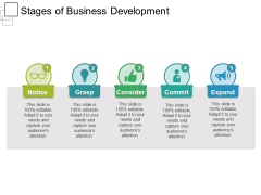 Stages Of Business Development Ppt PowerPoint Presentation Ideas Slideshow