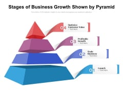Stages Of Business Growth Shown By Pyramid Ppt PowerPoint Presentation File Influencers PDF