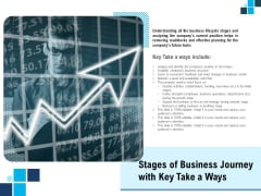 Stages Of Business Journey With Key Take A Ways Ppt PowerPoint Presentation Gallery Images PDF