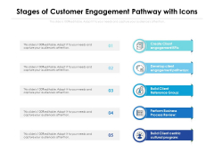 Stages Of Customer Engagement Pathway With Icons Ppt PowerPoint Presentation File Microsoft PDF